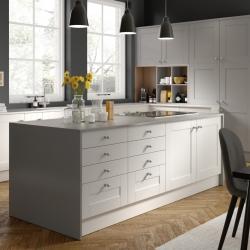 Nouveau White & Light Grey